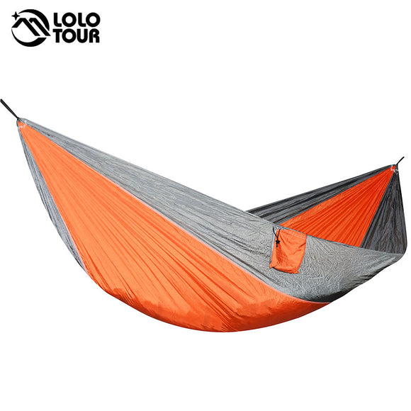 Portable Lightweight Nylon Parachute Double Hammock Multifunctional 2 People Hamak Camping Backpacking Travel Beach Yard Garden - Fun Buy Shop