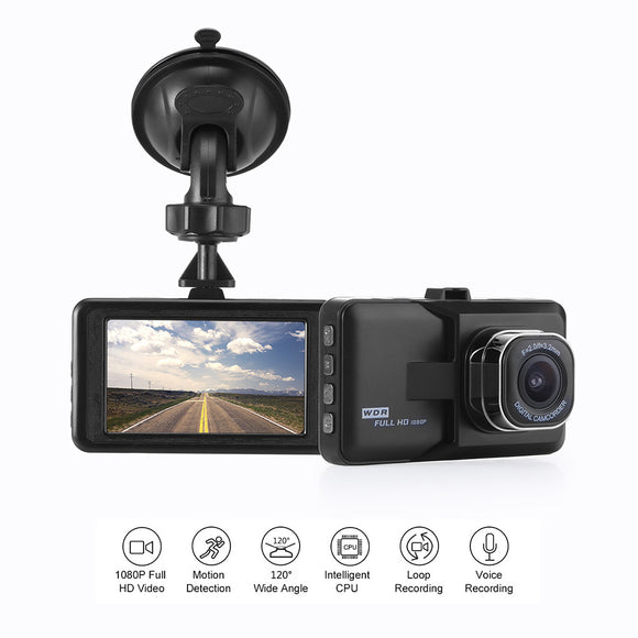 Dash Camera Car DVR Dash Cam Video Recorder LCD FHD 1080P Camcorder Night Vision / Motion Detection / Loop Recording 1.3MP 360* - Fun Buy Shop