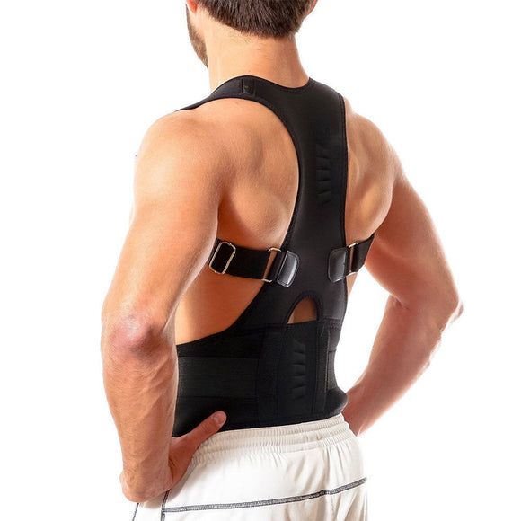 New Magnetic Posture Corrector Neoprene Back Corset Brace Straightener Shoulder Back Belt Spine Support Belt - Fun Buy Shop