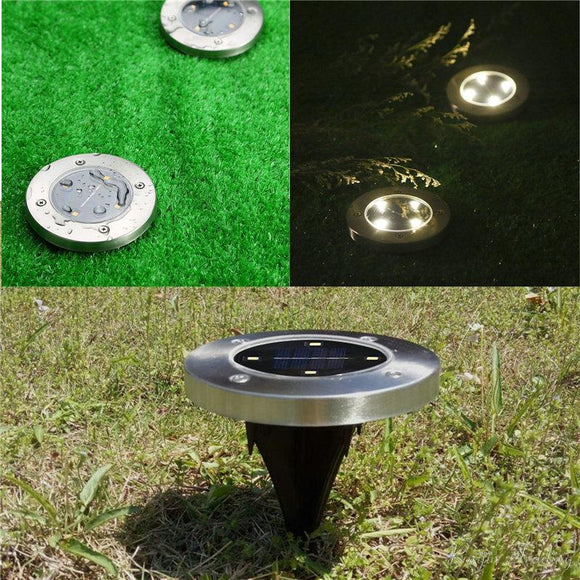 Waterproof Solar Powered LED Disk Lights (Set Of 4) Outdoor Garden Stair Lights As Seen on TV Furniture Accessories - Fun Buy Shop