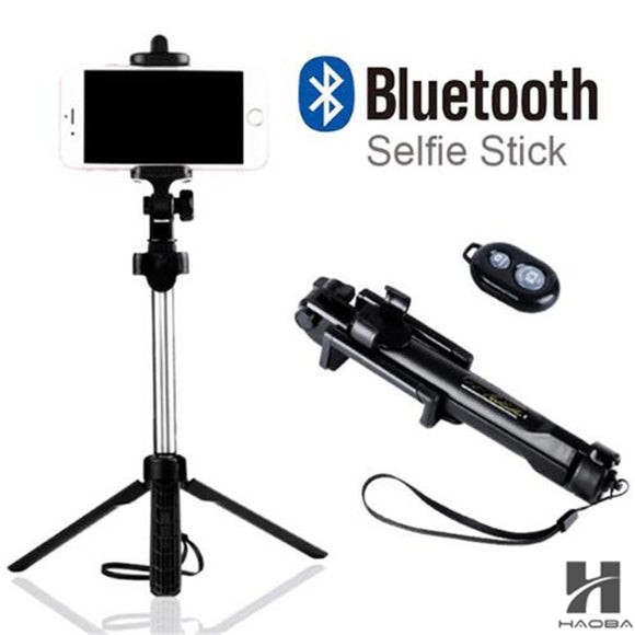 FGHGF T1 2018 Tripod Monopod Selfie Stick Bluetooth With Button Pau De Palo selfie stick for iphone 6 7 8 plus Android stick - Fun Buy Shop