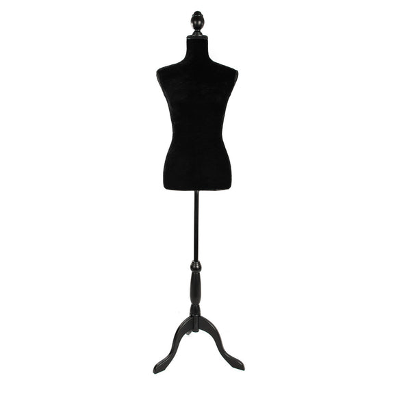 Black Female Mannequin Torso Clothing Display W/ Black Tripod Stand New Style - Fun Buy Shop