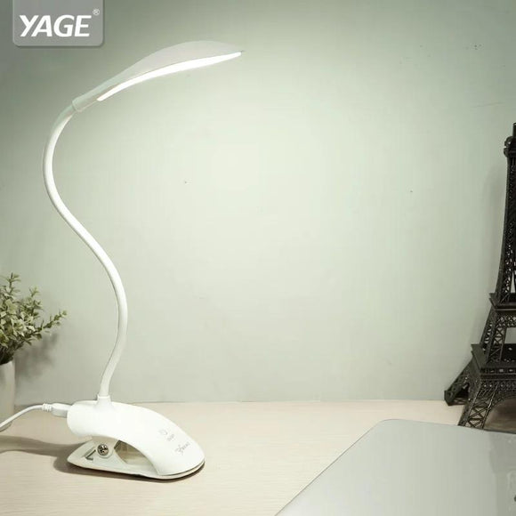 YAGE YG-5933 Desk lamp USB led Table Lamp 14 LED Table lamp with Clip Bed Reading book Light LED Desk lamp Table Touch 3 Modes - Fun Buy Shop