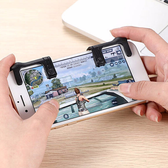 VKTECH 2pcs Mobile Phone Physical Joysticks Game Controller Assist Tools for STG FPS TPS Games PUBG Shooting Game Tools - Fun Buy Shop
