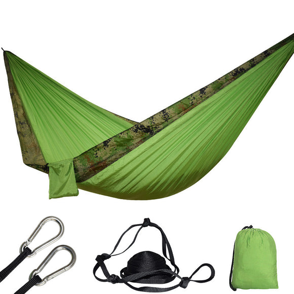 24 Color 2 People Portable Parachute Hammock Camping Survival Garden Flyknit Hunting Leisure Hamac Travel Double Person Hamak - Fun Buy Shop