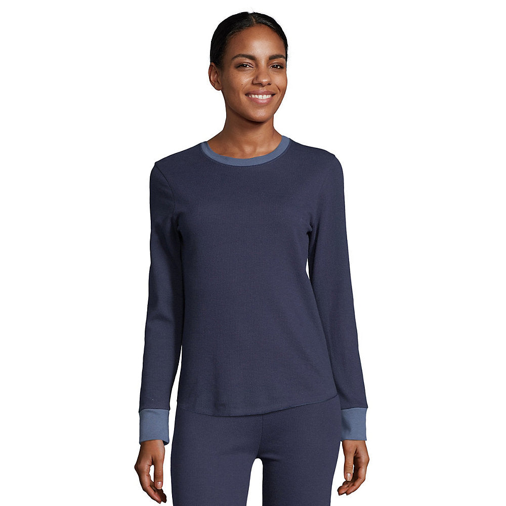 Hanes Women's Solid Color Fusion Crewneck - Lil&Laya