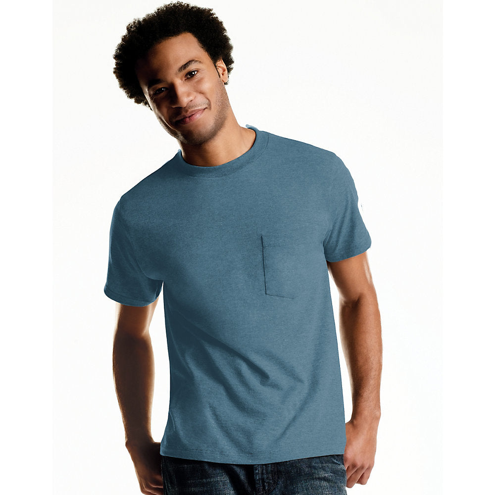 Hanes Men's TAGLESS® ComfortSoft® Dyed Crewneck Pocket T-Shirt 4-Pack - Lil&Laya