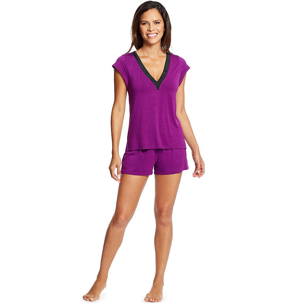 Maidenform V-Neck Shorts Set - Lil&Laya