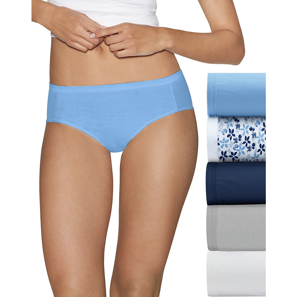 Hanes Ultimate_Ñ_եë¢ Comfort Cotton Women's Hipster Panties 5-Pack - Lil&Laya