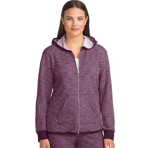Hanes Women's French Terry High Low Zip Hoodie - Lil&Laya