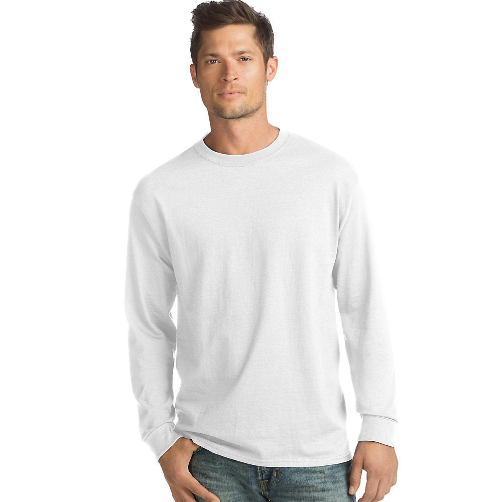 Hanes Men's TAGLESS® Comfortsoft® Long-Sleeve T-Shirt