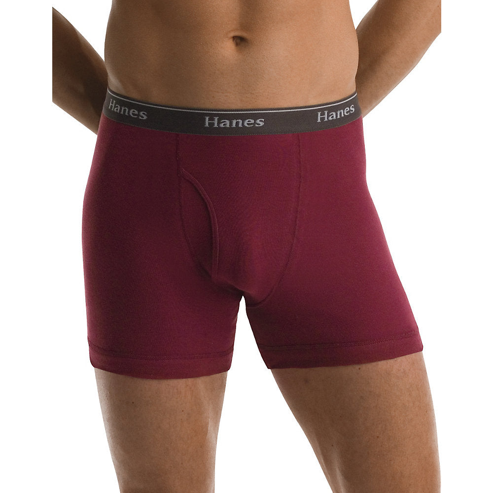 Hanes Classics Mens Assorted Dyed Boxer Briefs P5 - Lil&Laya