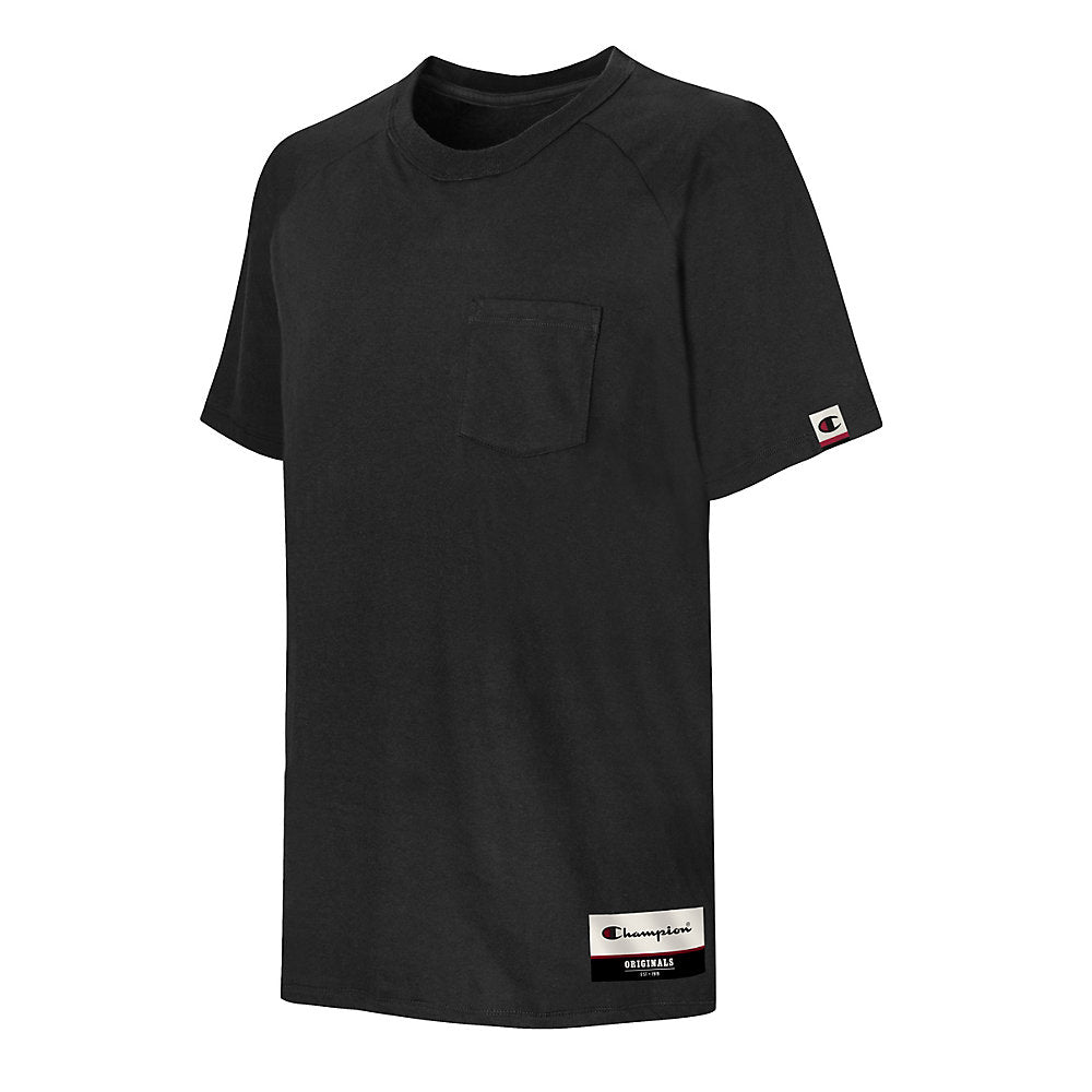Champion Authentic Originals Men's Soft-Wash Short Sleeve Pocket T-shirt - Lil&Laya
