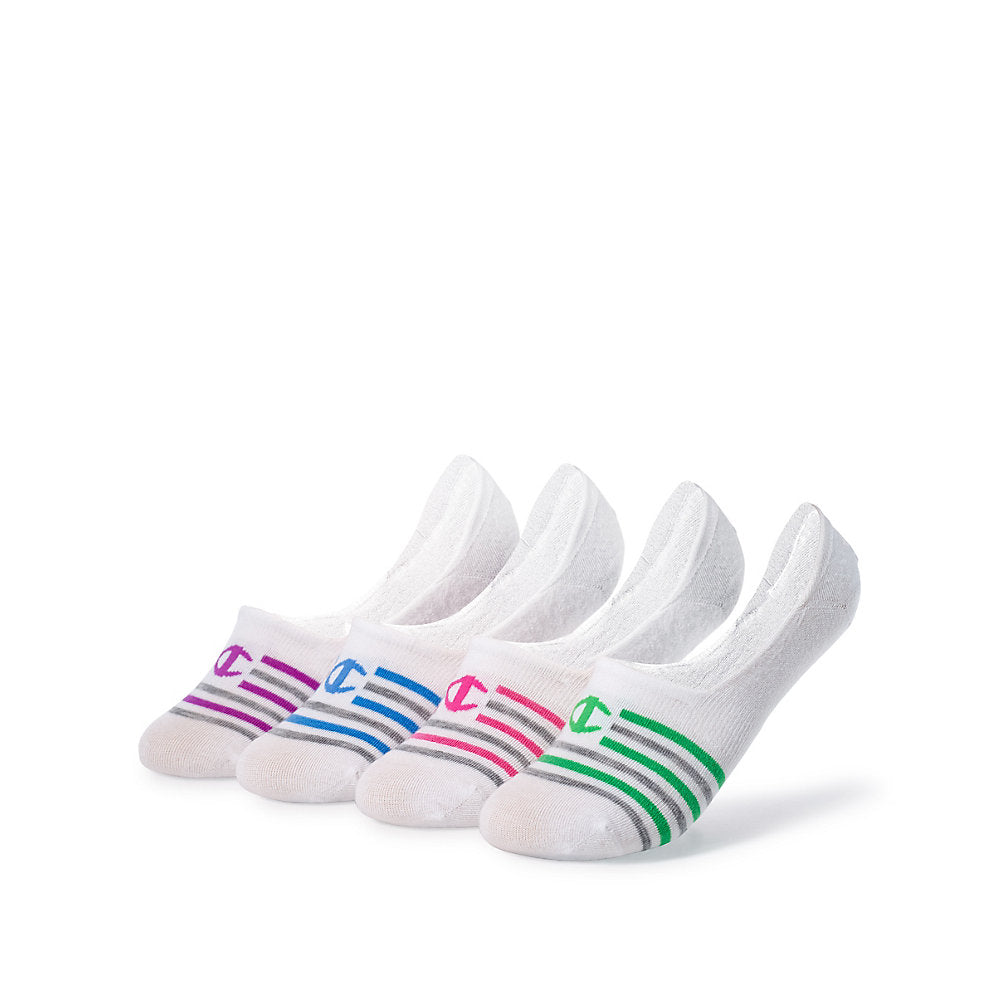 Champion Women's Performance Liner Stripe Socks 4-Pack - Lil&Laya