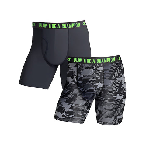 Champion Men's Ultra Lightweight Regular Leg Boxer Brief 2-Pack - Lil&Laya