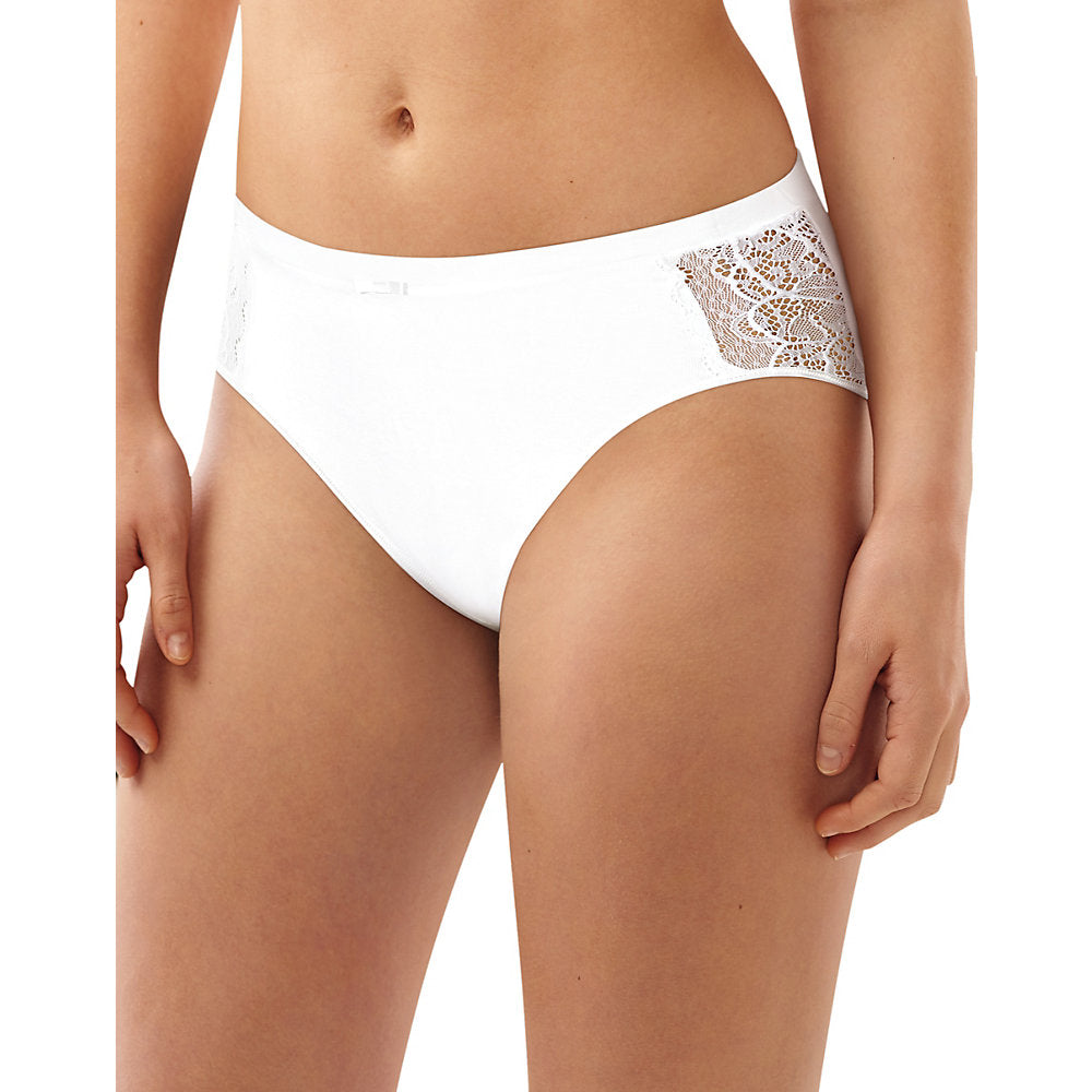 Bali Lace Desire Cotton Hi-Cut Brief - Lil&Laya
