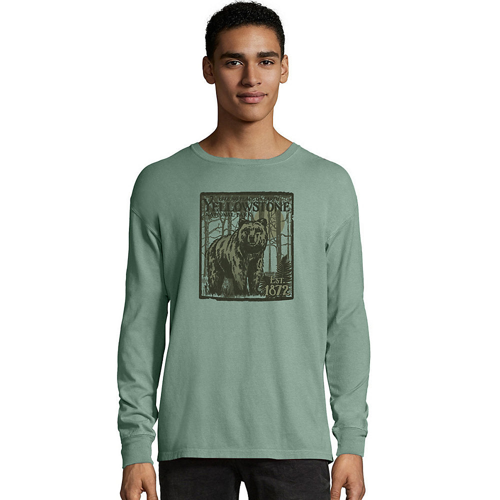 Hanes ComfortWash_Ñ_եë¢ Yellowstone National Park Graphic Long Sleeve Tee - Lil&Laya