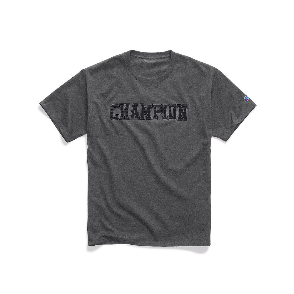 Champion Men's Graphic Jersey Tee, Mesh-Effect Logo - Lil&Laya