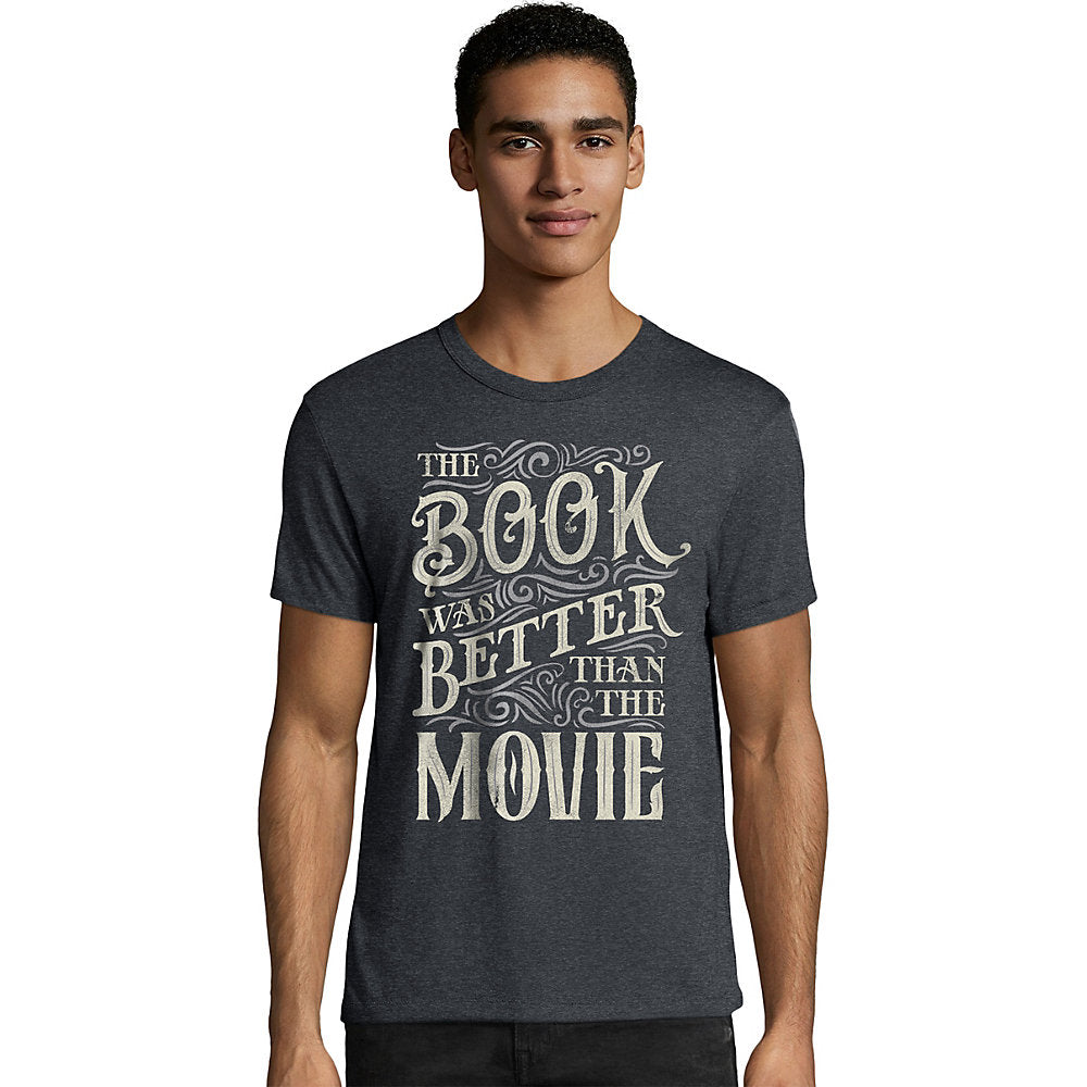 Hanes Men's The Book Was Better Than The Movie Graphic Tee - Lil&Laya