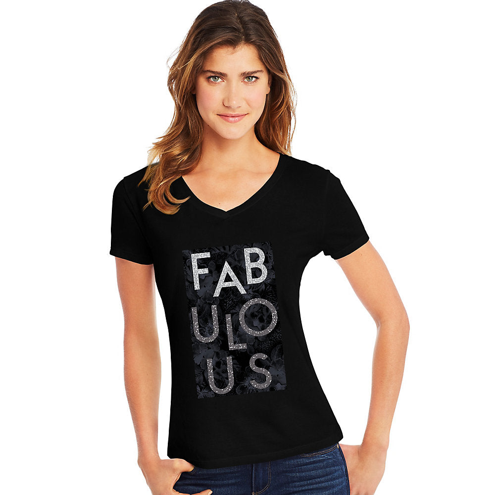 Hanes Women's Fabulous Short Sleeve V-Neck Tee - Lil&Laya