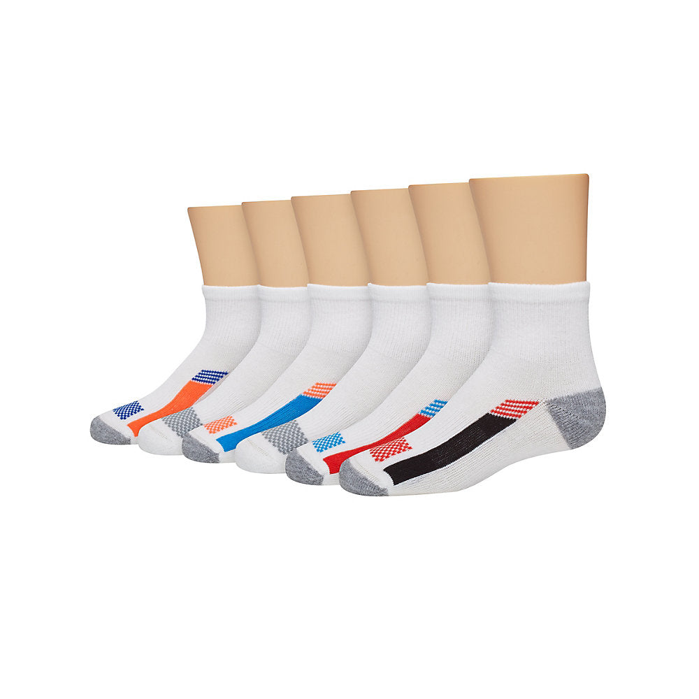 Hanes Boys' X-Temp® Active Cool Ankle 6-Pack