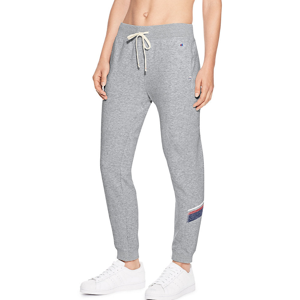 Champion Women's Heritage French Terry 7/8 Jogger With Stripes - Lil&Laya