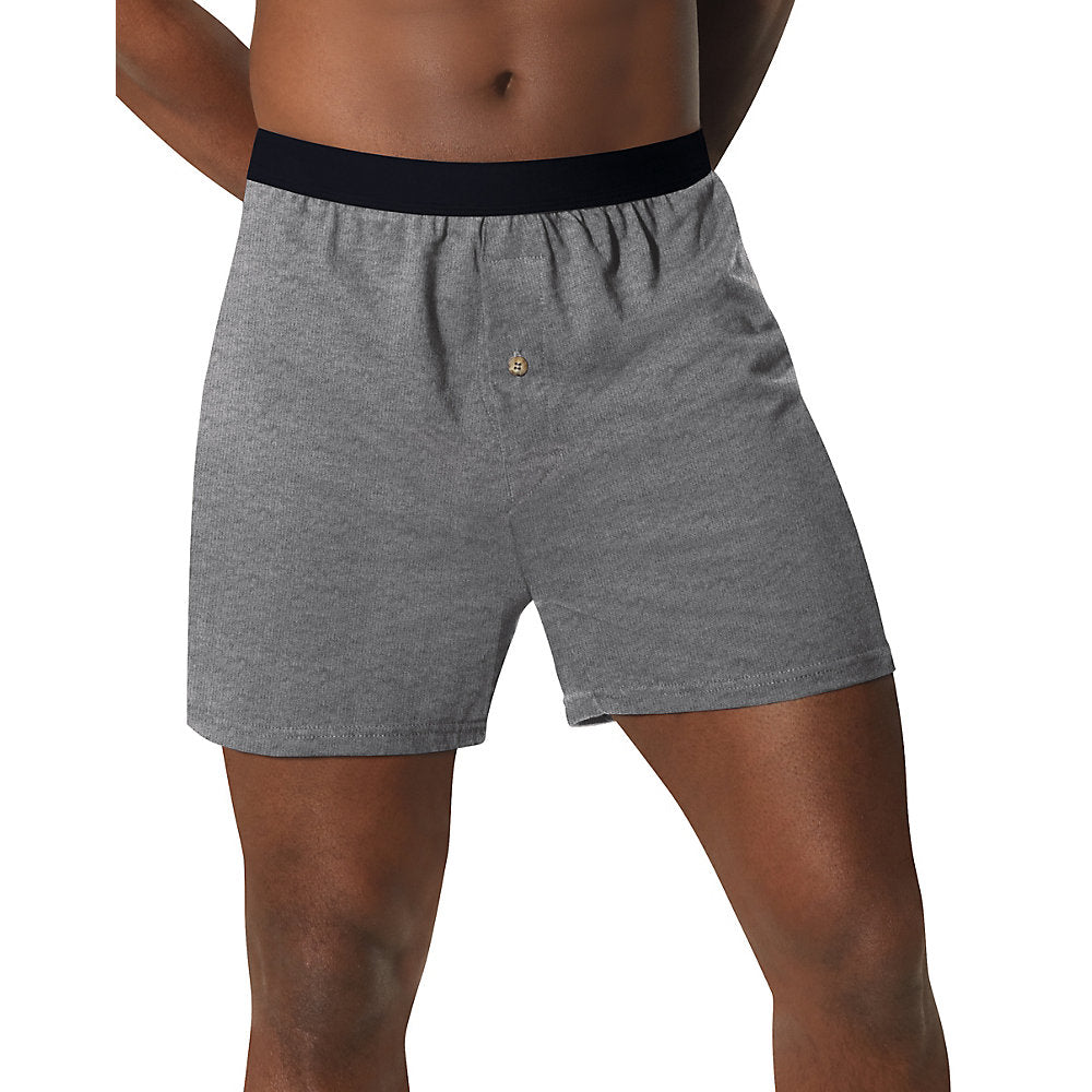 Hanes Men's TAGLESS® ComfortSoft® Knit Boxers with ComfortSoft® Waistband 5-Pack - Lil&Laya