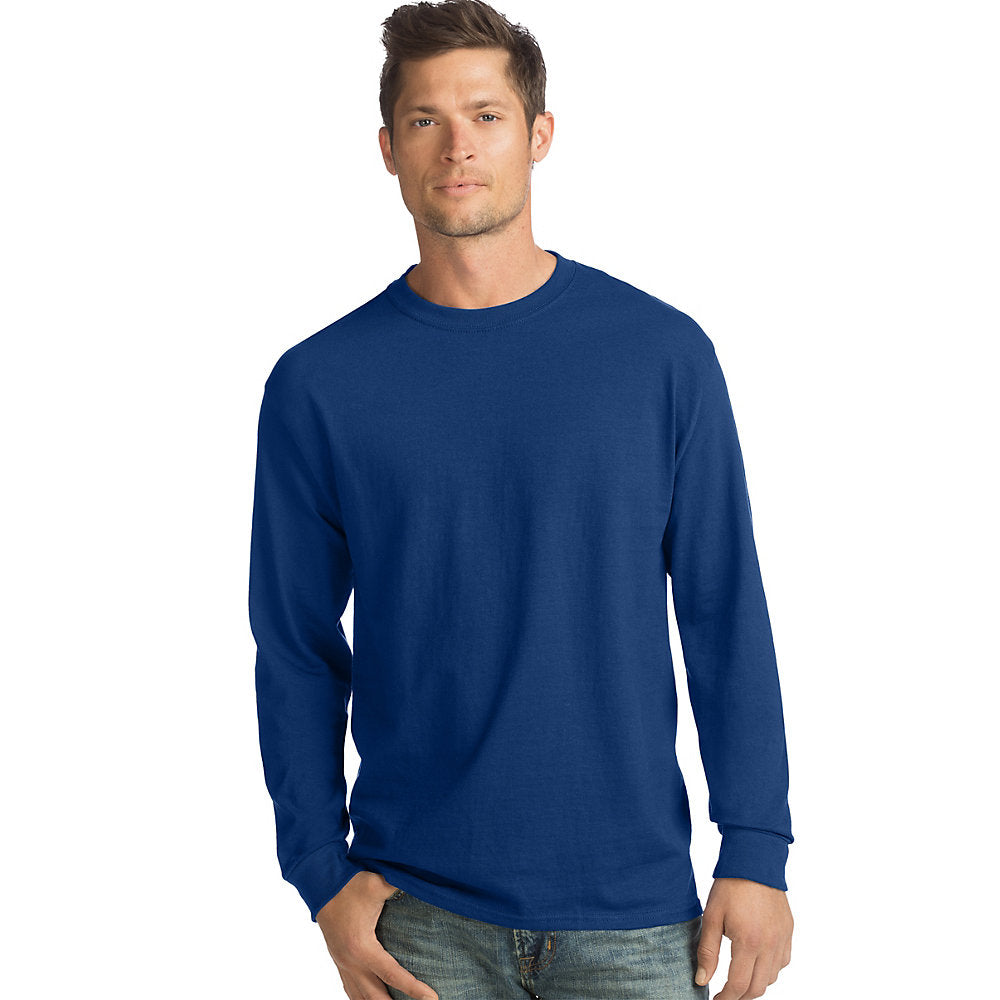Hanes ComfortSoft® Men's Long-Sleeve T-Shirt 4-Pack - Lil&Laya