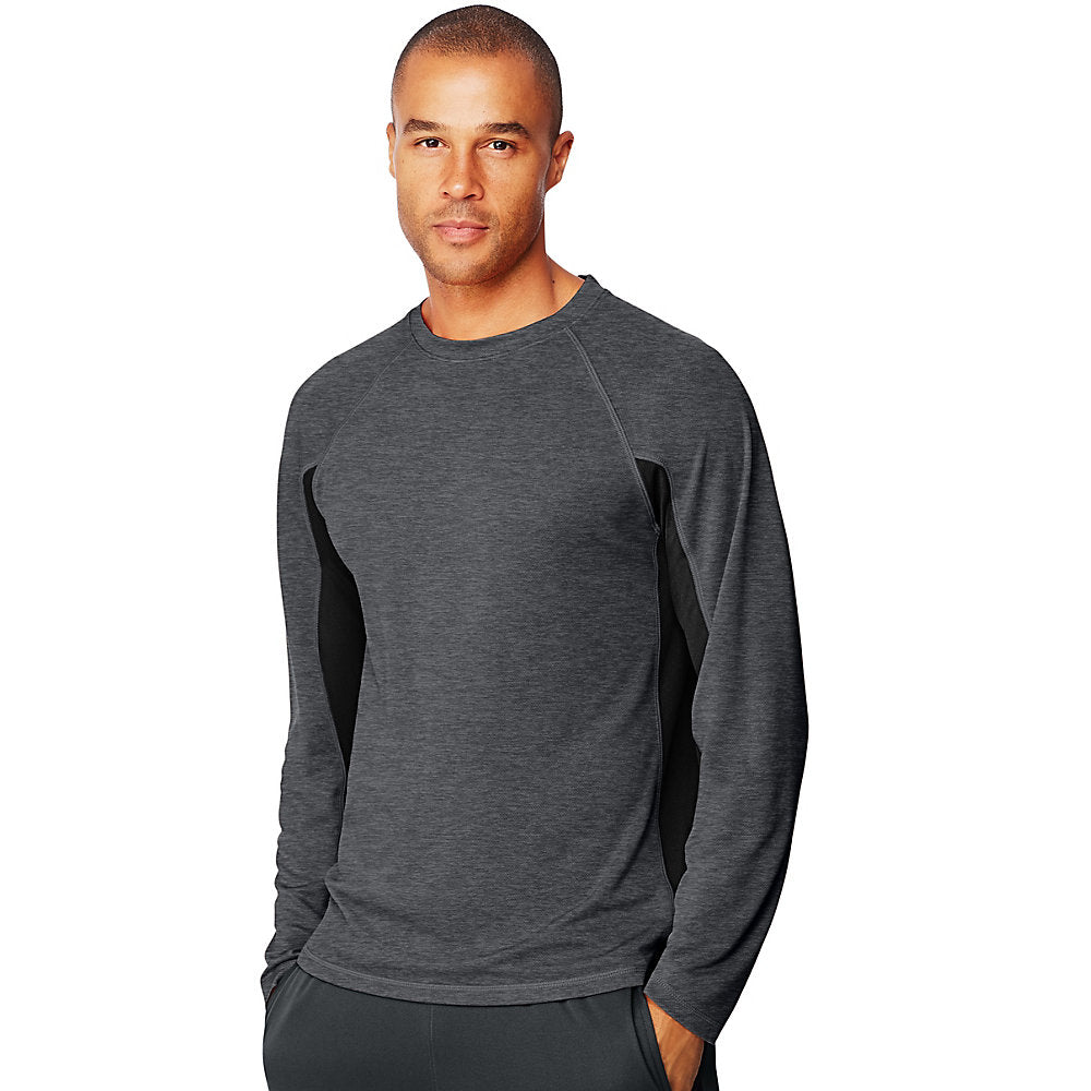 Hanes Sport™ X-Temp® Men's Performance Long-Sleeve Training T-Shirt - Lil&Laya