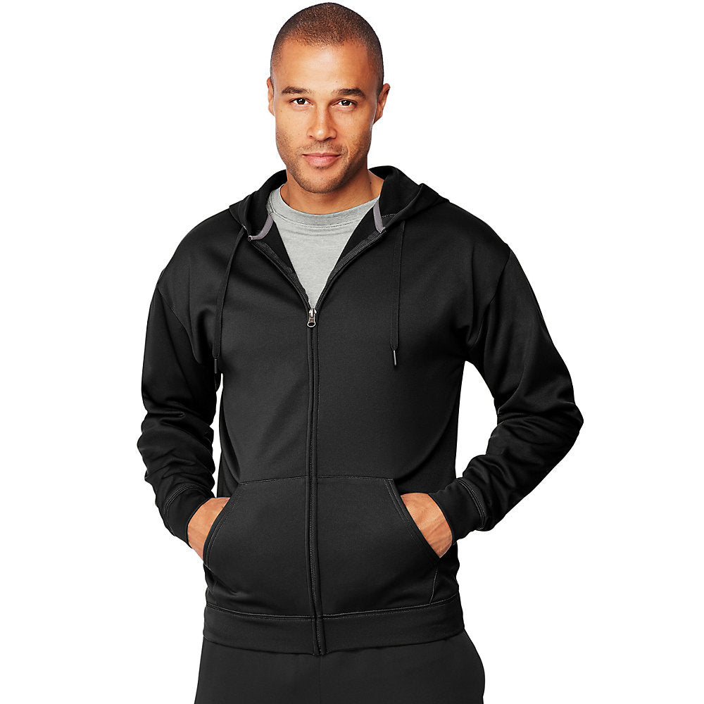 Hanes Sport™ Men's Performance Fleece Zip Up Hoodie - Lil&Laya