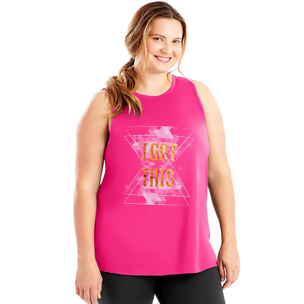 Just My Size Active Graphic Muscle Tank - Lil&Laya