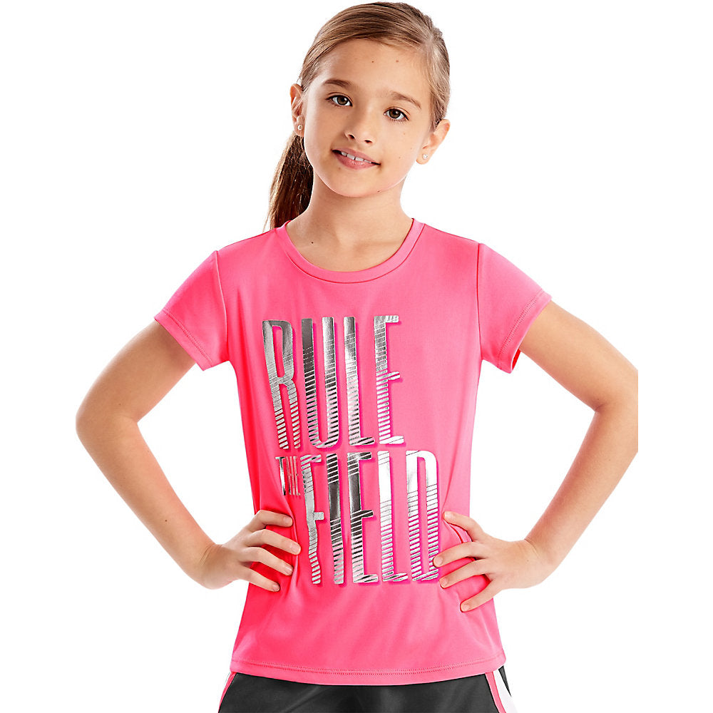 Hanes Sport_Ñ_եë¢ Girls' Speed Dash Performance Tee - Lil&Laya