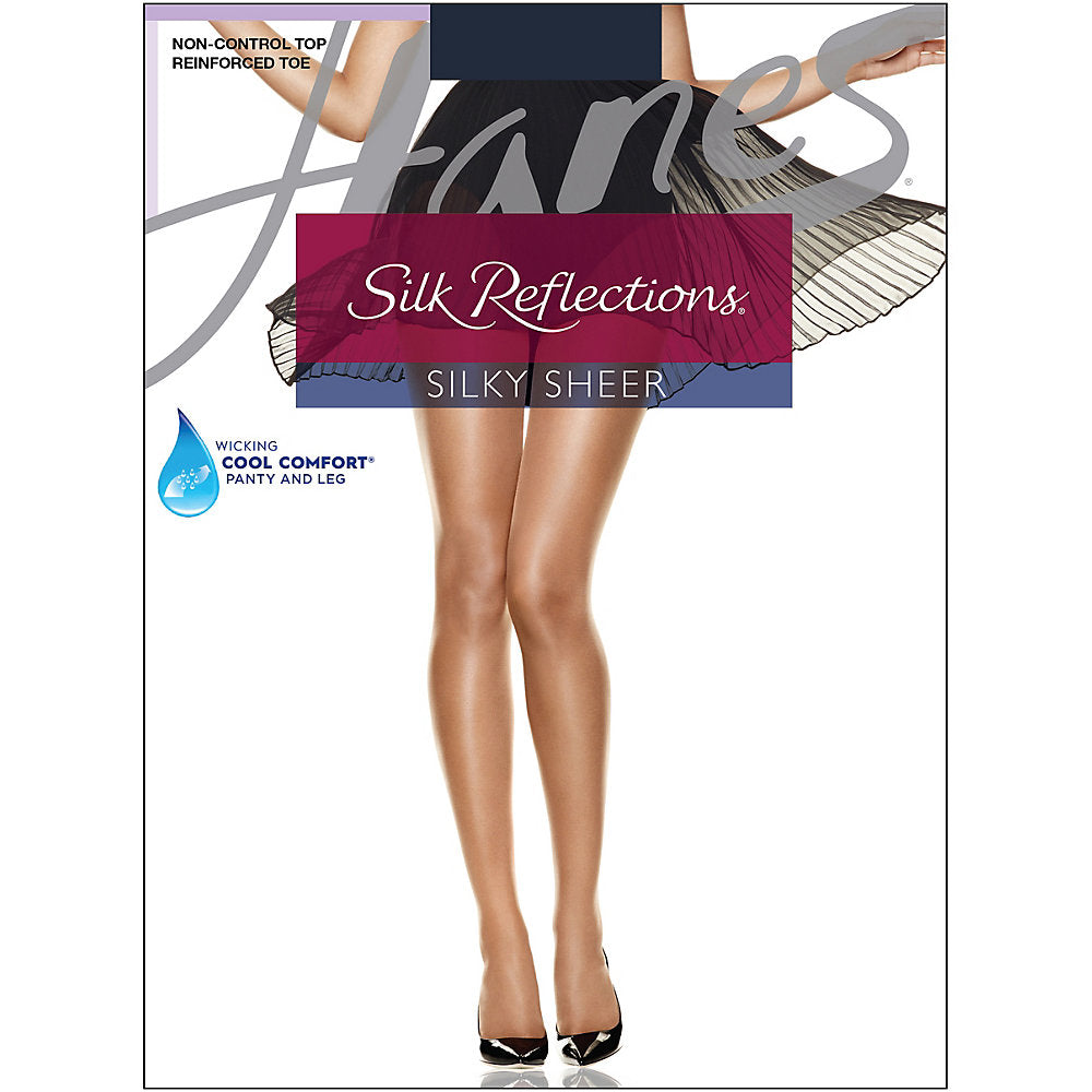 Hanes Silk Reflections Reinforced Toe Pantyhose - Lil&Laya
