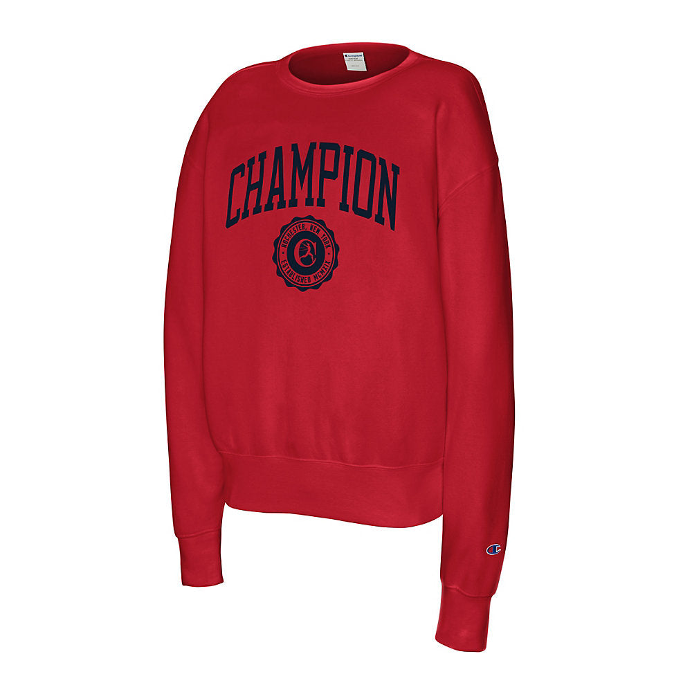 Champion Men's Heritage Fleece Crew Collegiate Logo With Crest - Lil&Laya