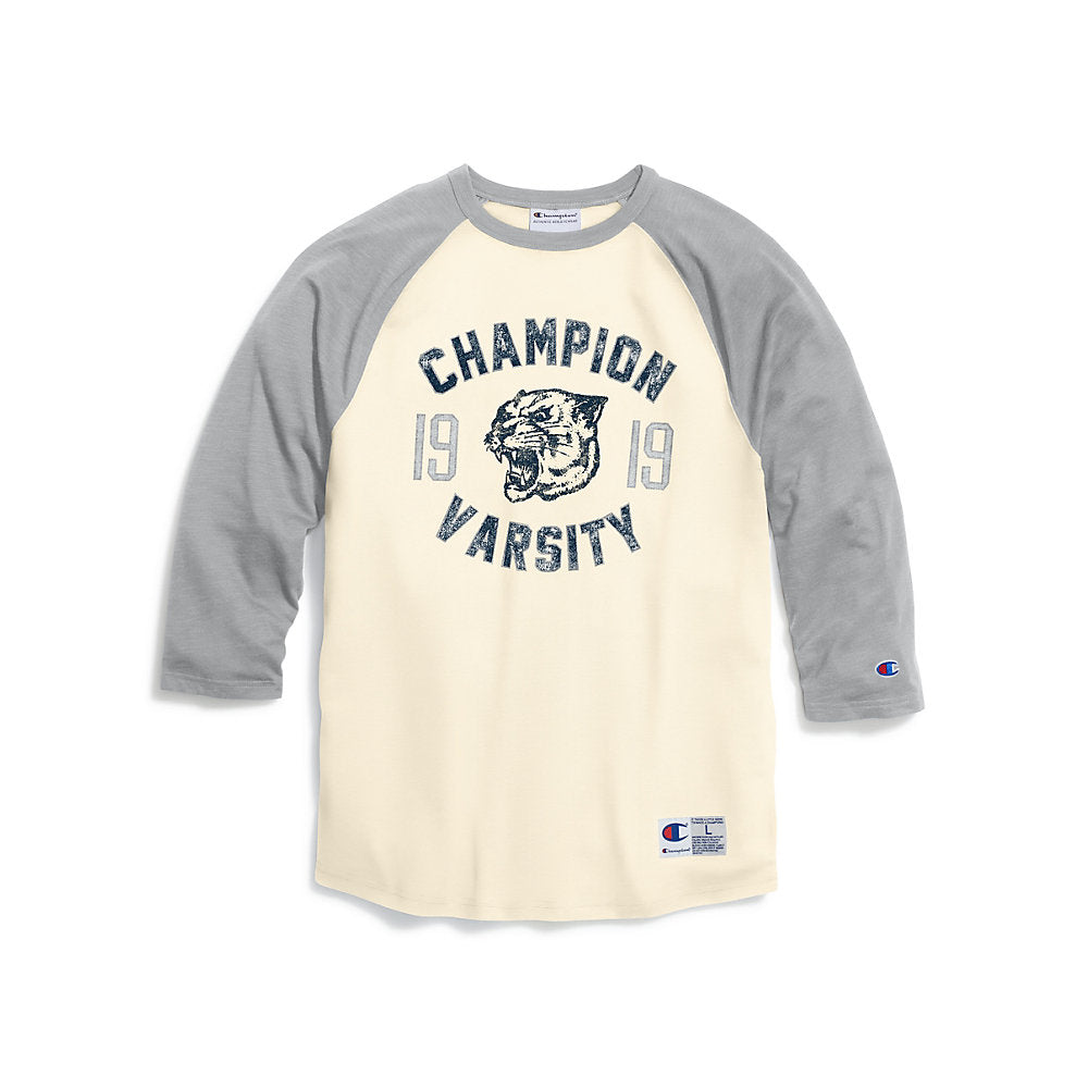 Champion Men's Heritage Baseball Slub Tee, Champion Panther - Lil&Laya