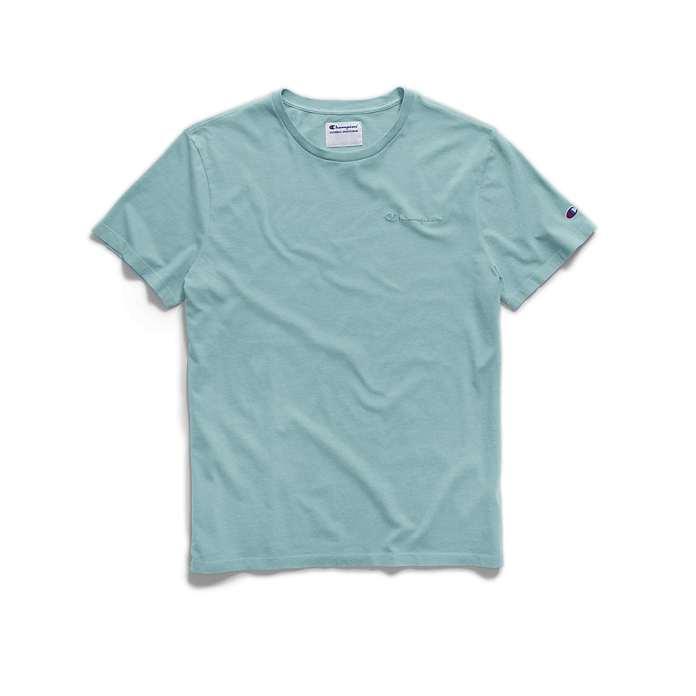 Champion Men's Vintage Dye Short-Sleeve Tee, Embroidered Logo - Lil&Laya