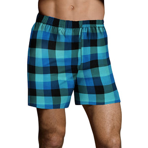 Hanes Men's TAGLESS® Ultimate Fashion Boxer with Comfort Flex® Waistband Assorted Pattern Blues 3-Pack - Lil&Laya