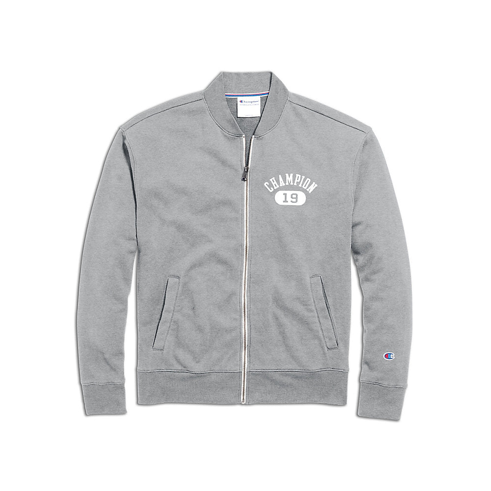 Champion Men's Heritage French Terry Warm-Up Jacket, Arch Logo - Lil&Laya