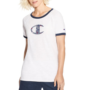 Champion Women's Heritage Ringer Tee-Floral Fill - Lil&Laya