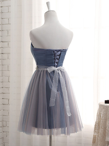A-line sweetheart pleated bridesmaid dress with sash