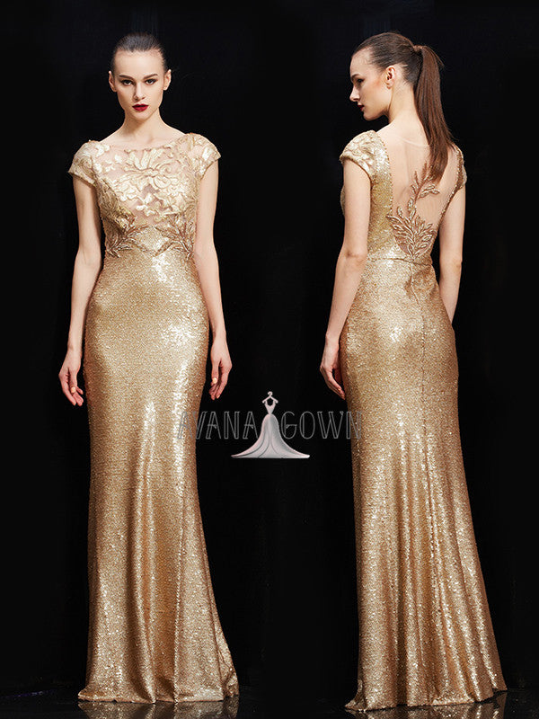 2019 new fashion shining sequins evening prom dress
