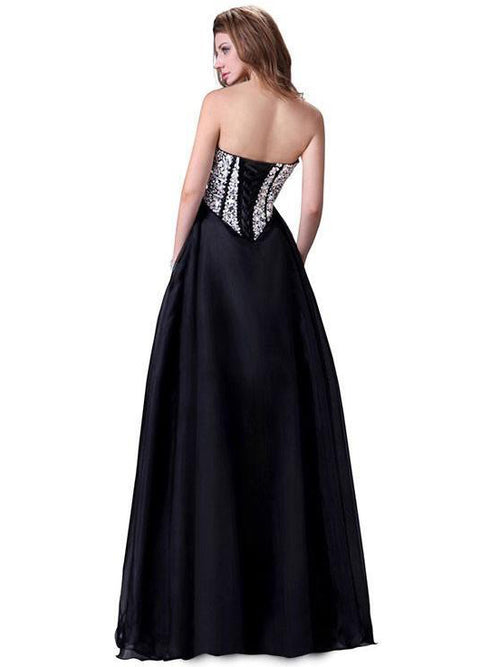 Sweetheart strapless empire waistline sequins prom dress, evening dress
