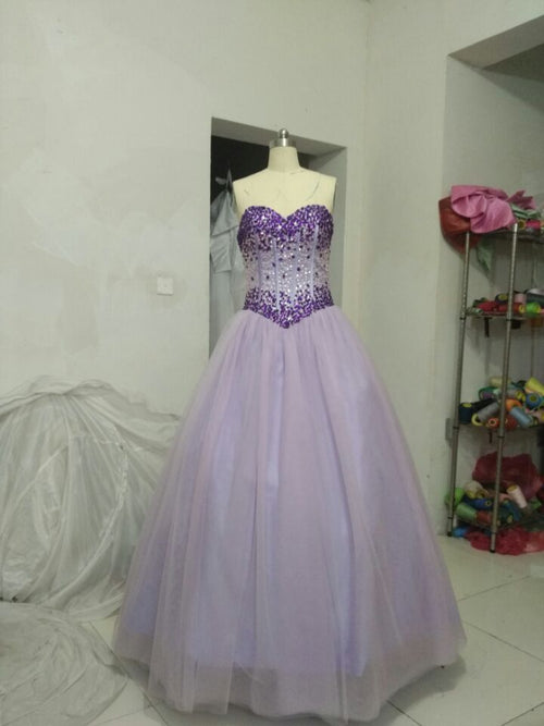 e6ba9dff4b7 Hot sale light purple prom dress