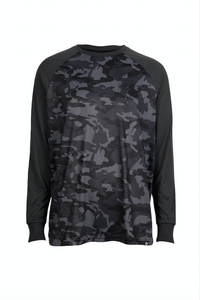 Performance Long Sleeve Tee Black Camo