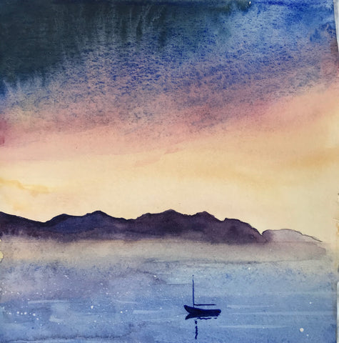 Watercolour study after Ian Scott Massie's course