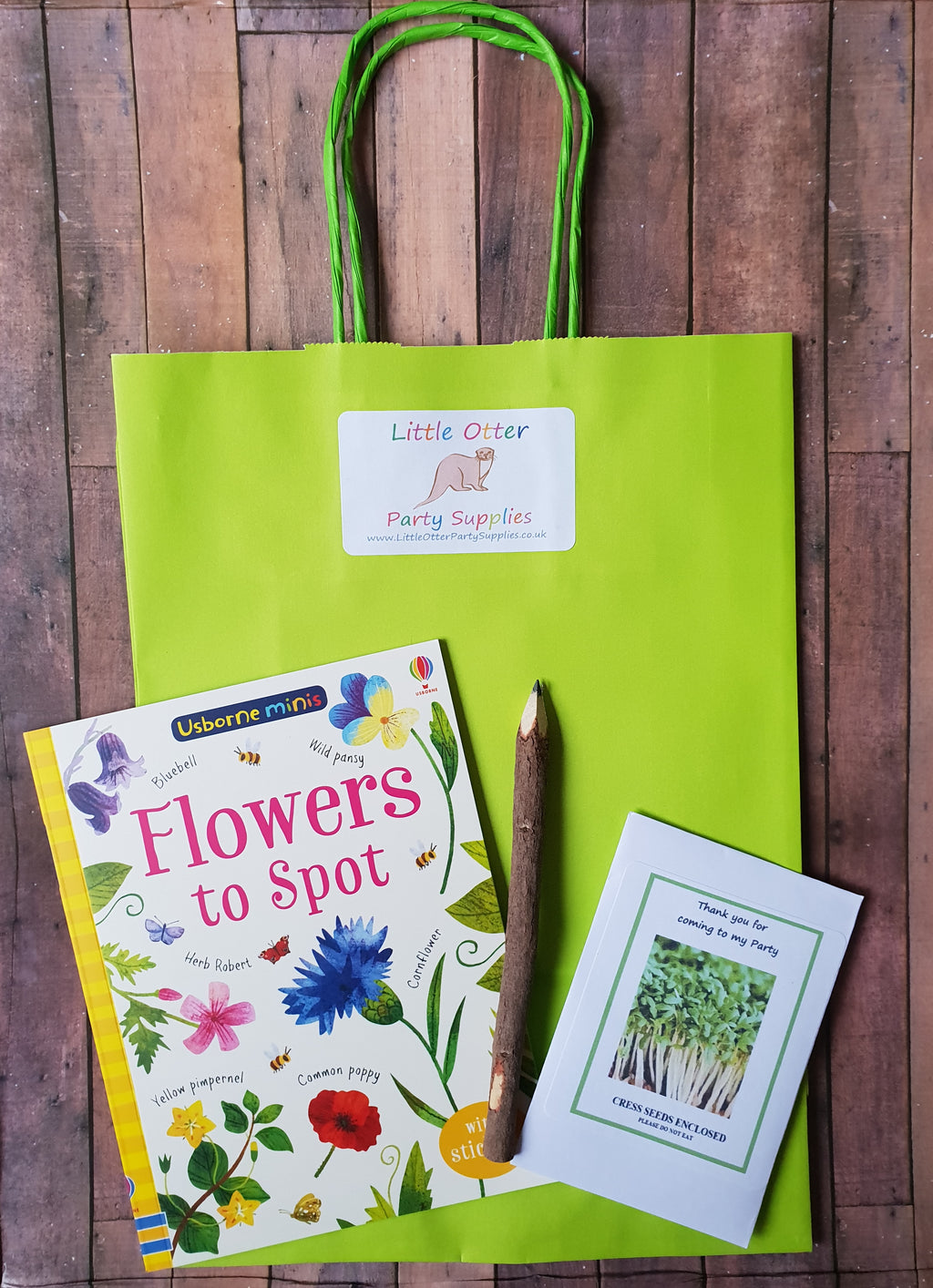 Spotters Guide Flowers Party Bag