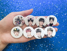 "BTS X FILTERS (White Ver.) | 1.25"" Pinback Buttons 방탄소년단"