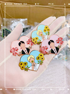 Joon & Sunflowers | BTS Enamel Pin