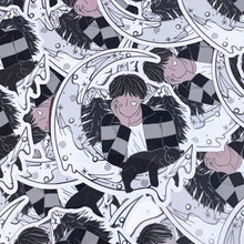 Lunar Bear: Taehyung Metallic Vinyl Sticker