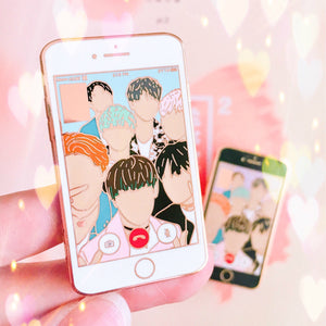 FACETIME | BTS Enamel Pin 방탄소년단 HYYH 2 Run iPhone Badge
